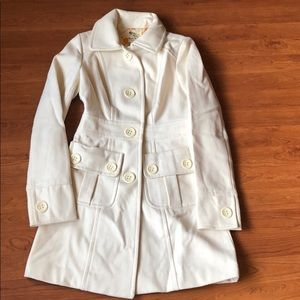 Tulle wool jacket. Cream color  size xs